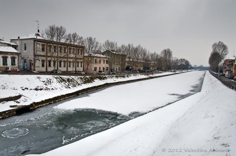 Il Naviglio ghiacciato nel Febbraio 2012
