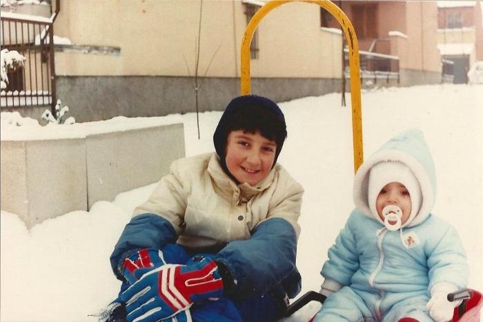Io e mio fratello, il 30 Gennaio 1986