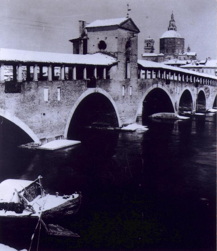 Una foto del nostro Ponte Vecchio nel Gennaio del 1926