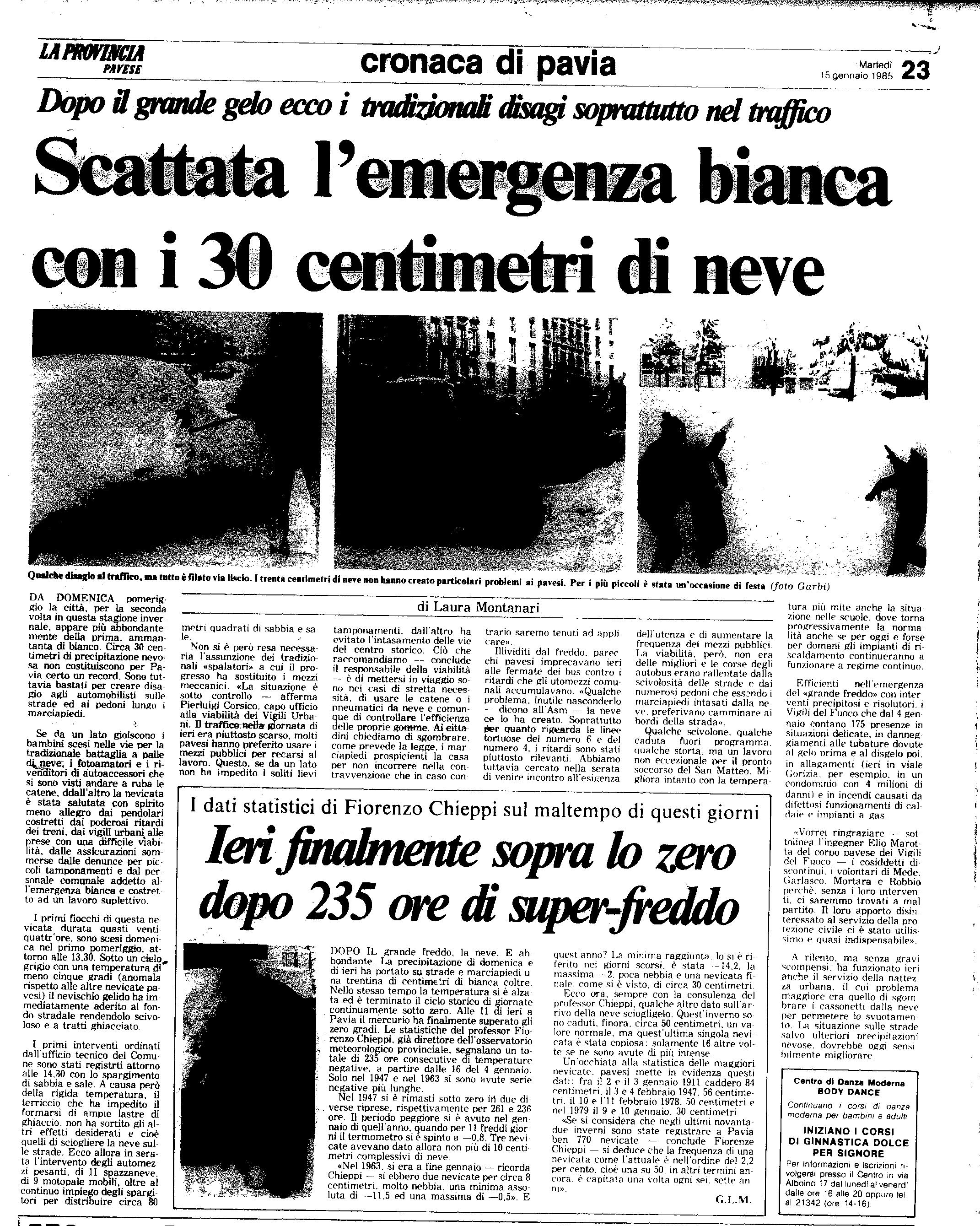 15 gennaio 1985