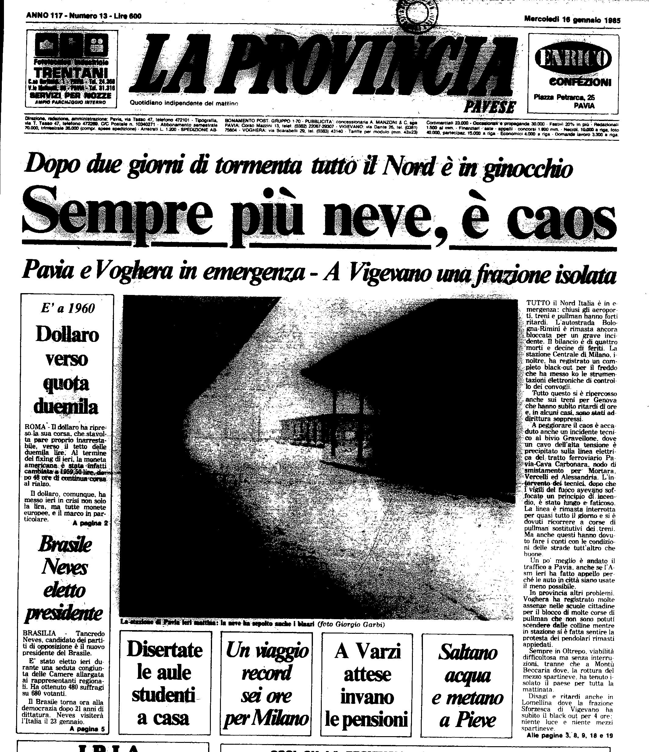 16 gennaio 1985