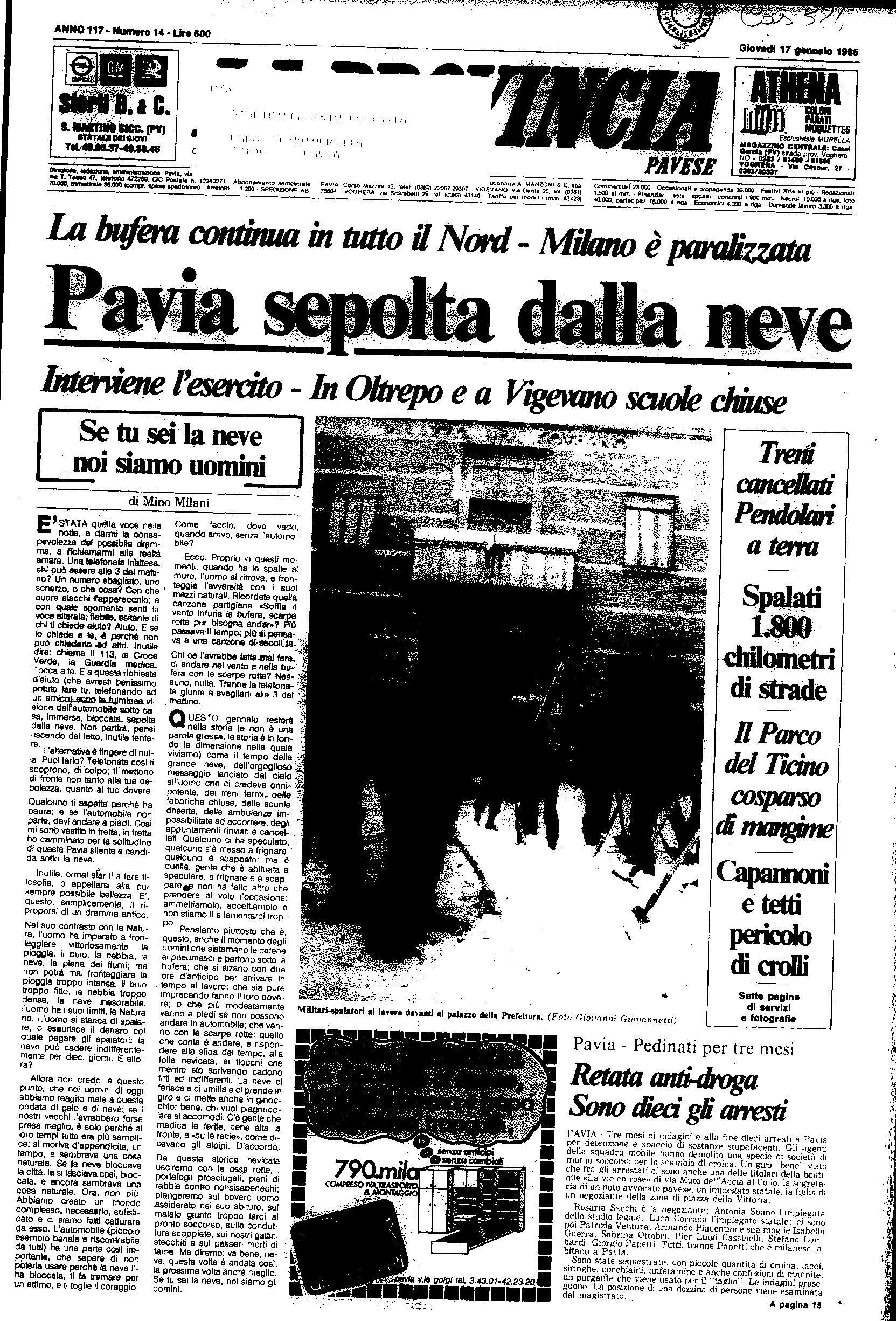 17 gennaio 1985