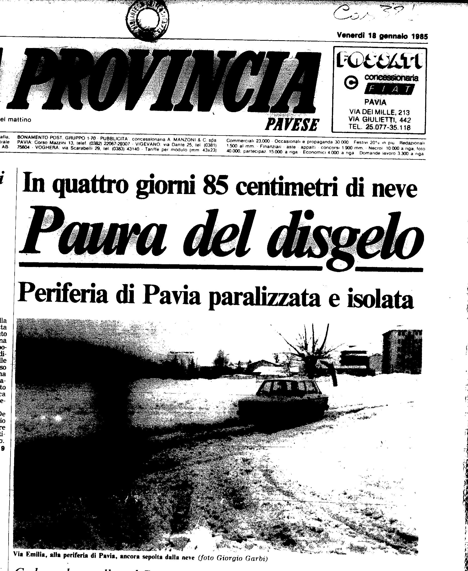 18 gennaio 1985