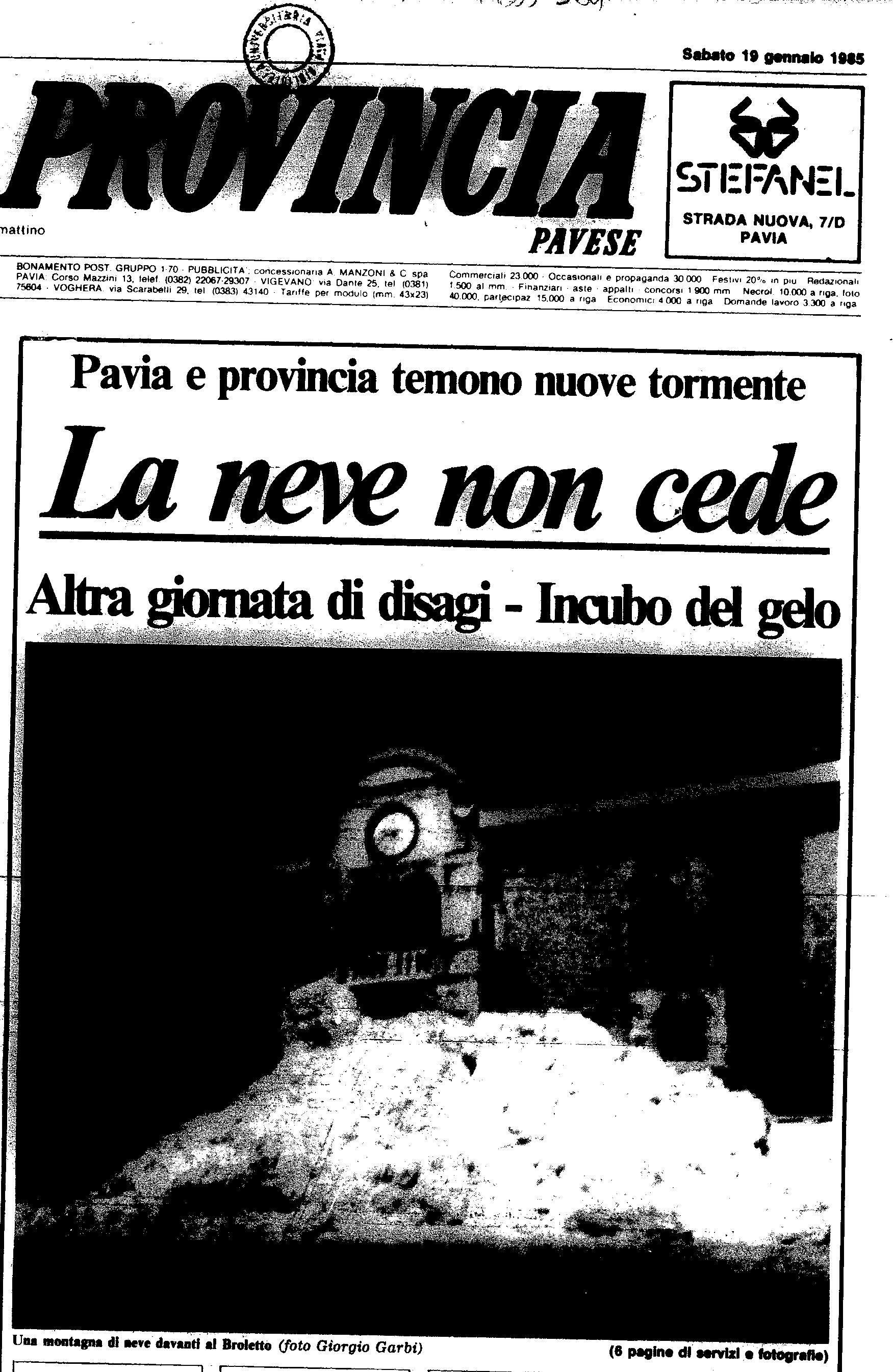 19 gennaio 1985