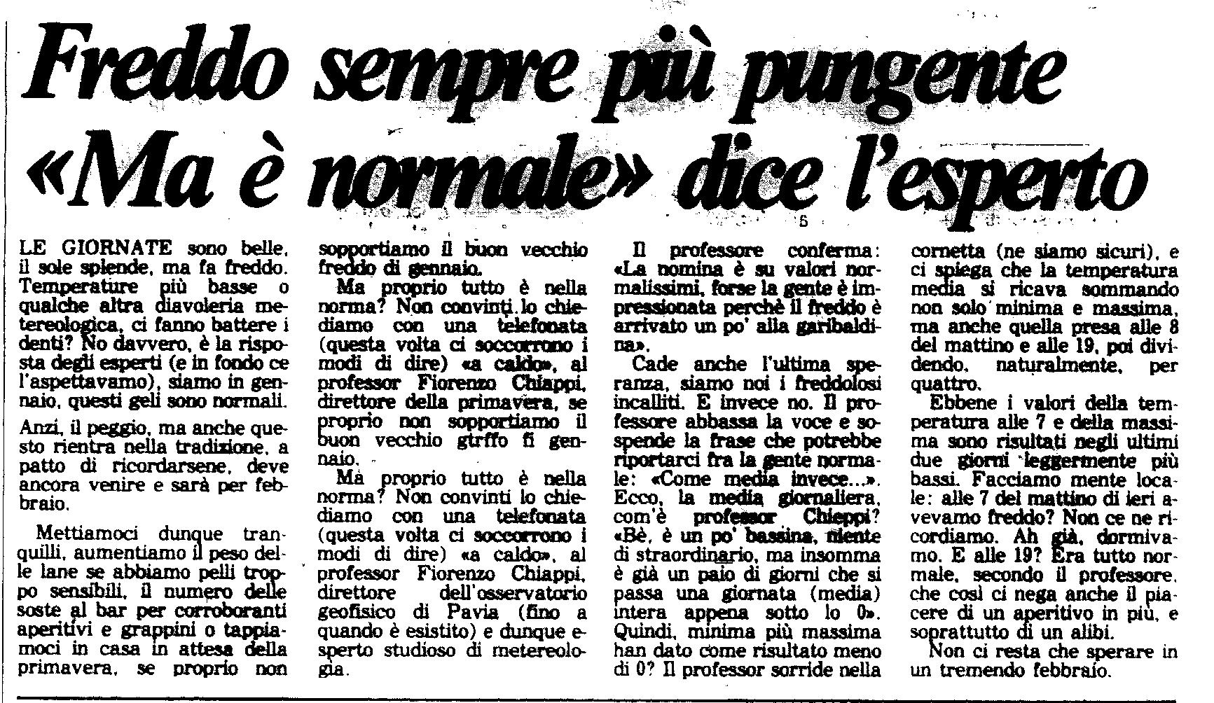 3 gennaio 1985