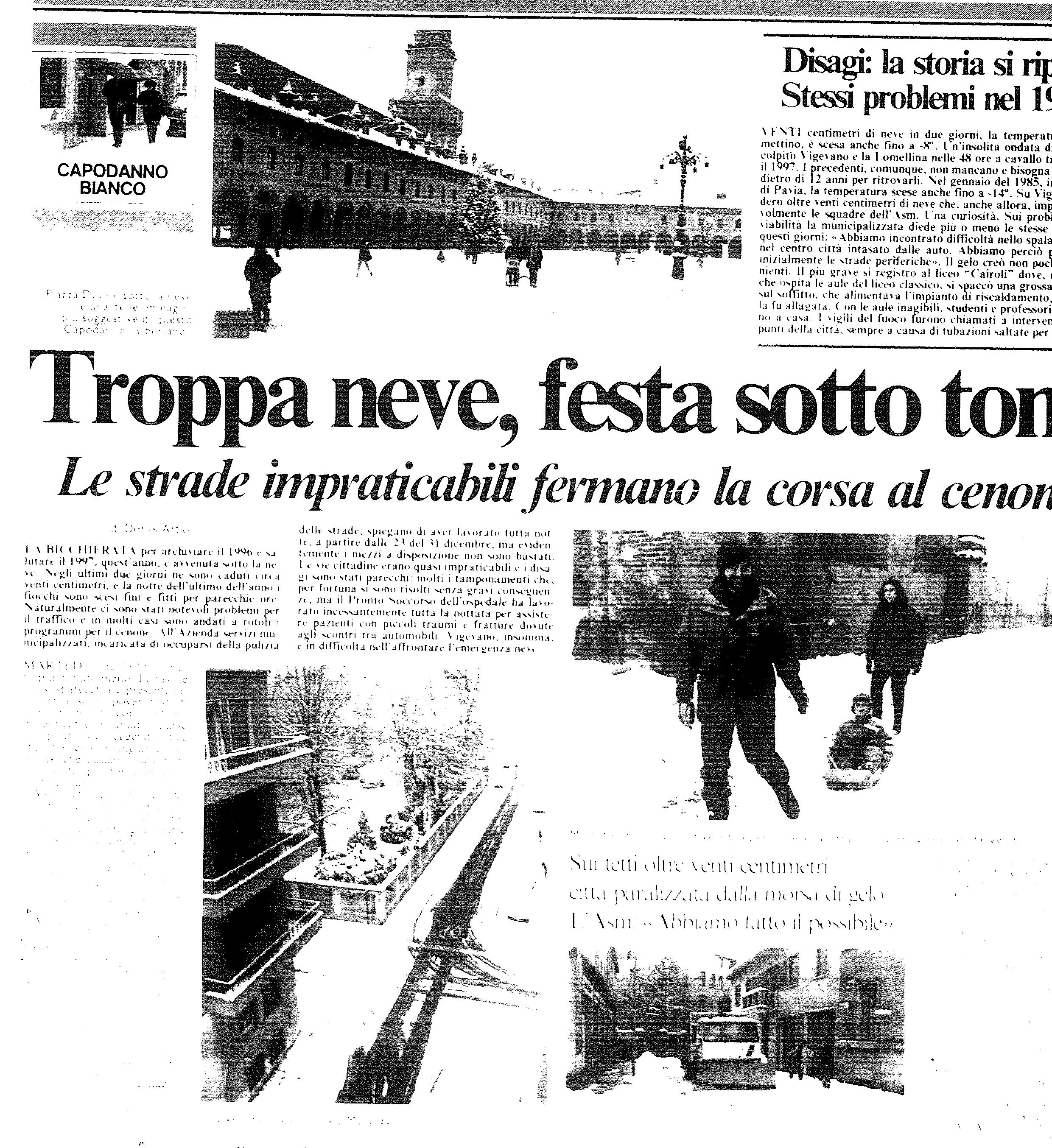 La neve a Vigevano