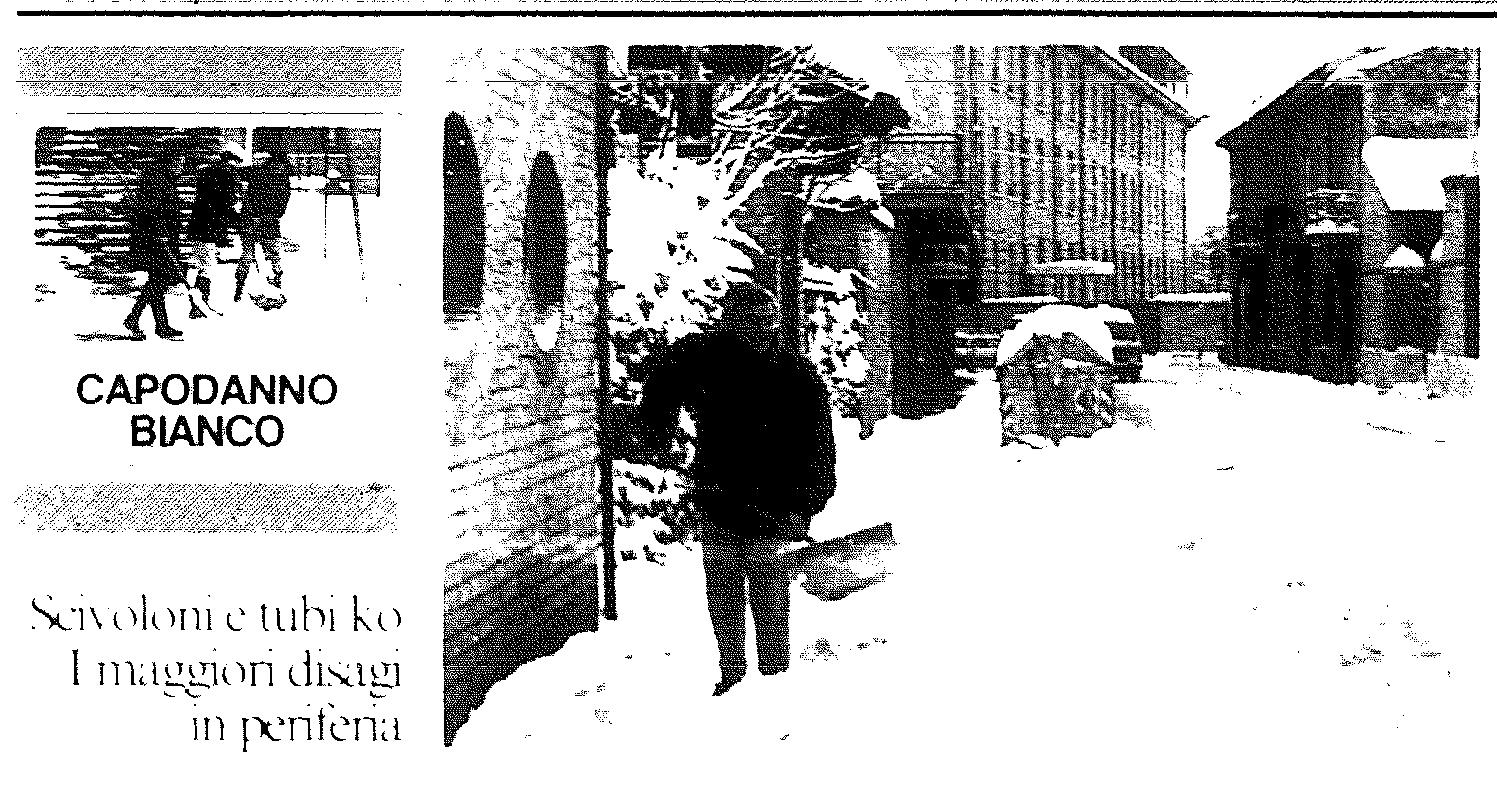 La neve a Voghera